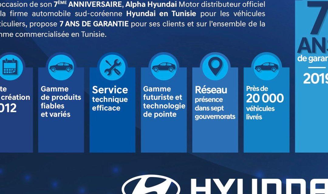 Une première en Tunisie: une garantie de 7 ans offerte par Hyundai