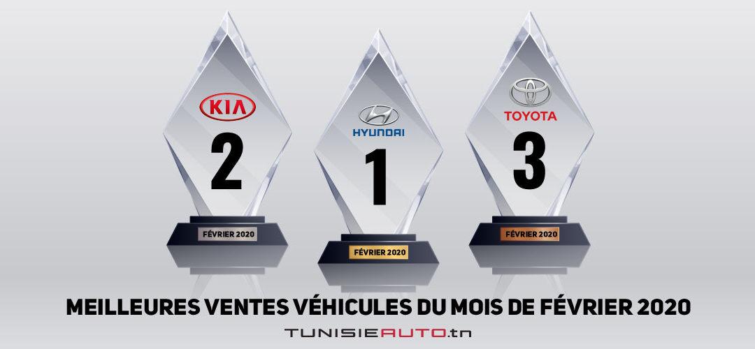 Hyundai, KIA et Toyota sur le podium des meilleures ventes véhicules du mois de février 2020