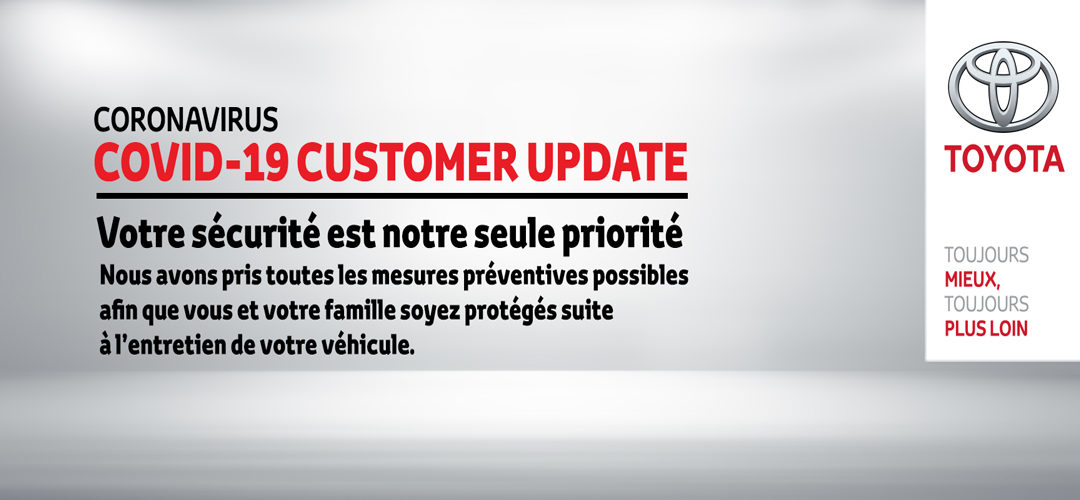 BSB Toyota annonce un service après-vente minimum durant la période de confinement