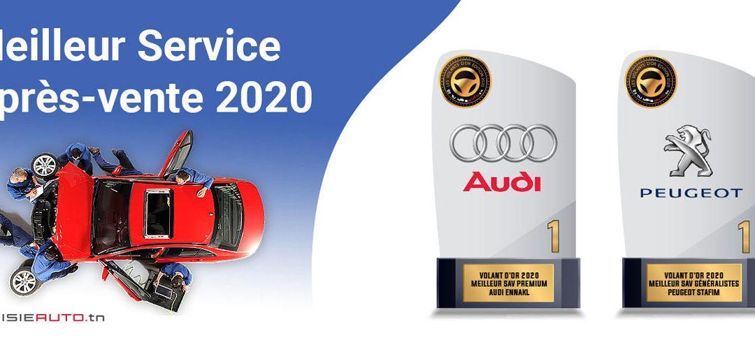 Sondage meilleur SAV 2020 : Stafim Peugeot et Audi Tunisie, les 2 Volants d'Or 2020 !